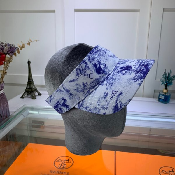 High Quality Christian Dior Blue and white porcelain hats