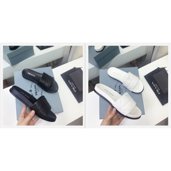 2021 prada quilted leather slide