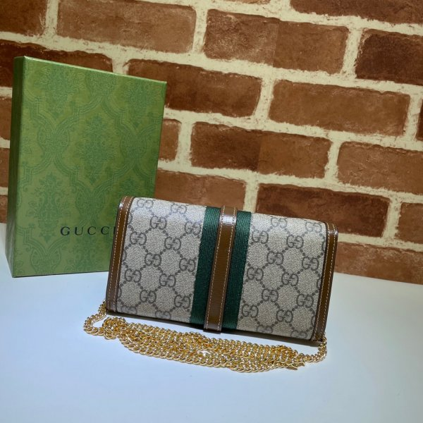 Gucci Replica Brown Jackie 1961 chain wallet 652681 bag