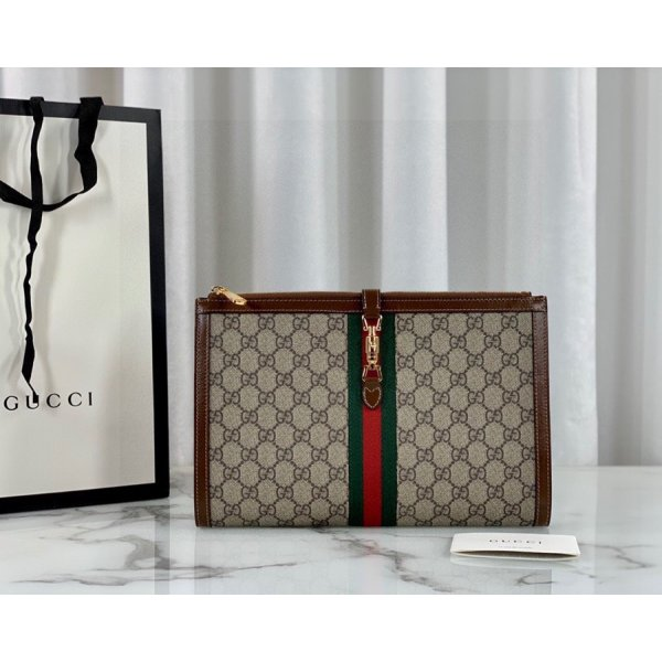 Gucci High Quality Beige Jackie 1961 pouch Beige Bag