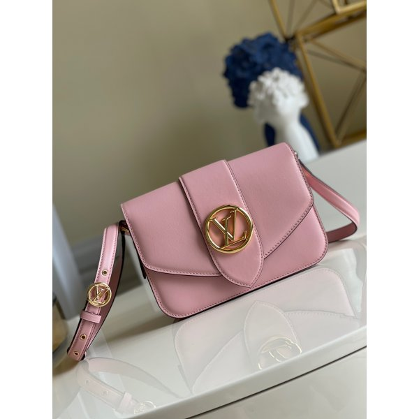 Louis Vuitton Replica Pont 9 Luxury M55948 Pink Leather