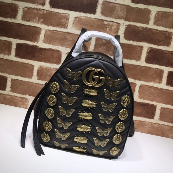 Replica Gucci 7 Star Marmont leather backpack Gucci 476671 Leather