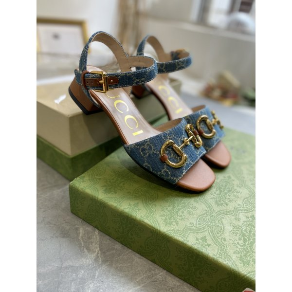 Buy Replica Gucci sandals 2021 Saddle buckle shoes