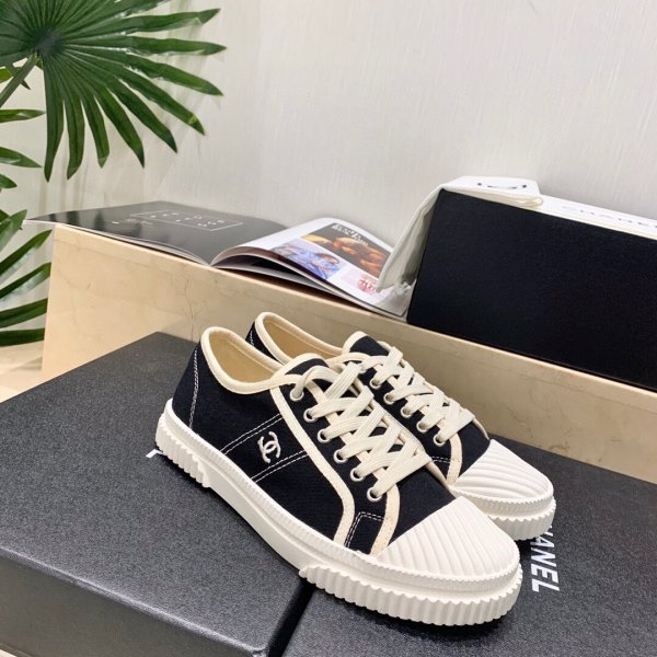 Buy replica 2021 Early spring casual lace-up canvas shoes biscuit shoes