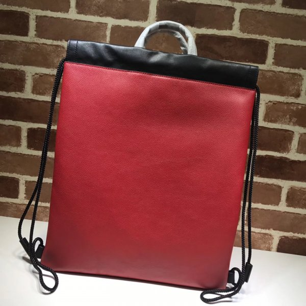 Replica Gucci Luxury Print Leather Drawstring Backpack 494053 Bag